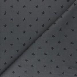 Tissu coton cretonne Starry Night - gris foncé x 10cm