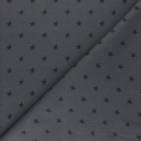 Cretonne Cotton fabric - dark grey Starry Night x 10cm