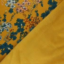 Poppy Sweatshirt with minkee fabric - mustard yellow Cherry Blossom x 10cm
