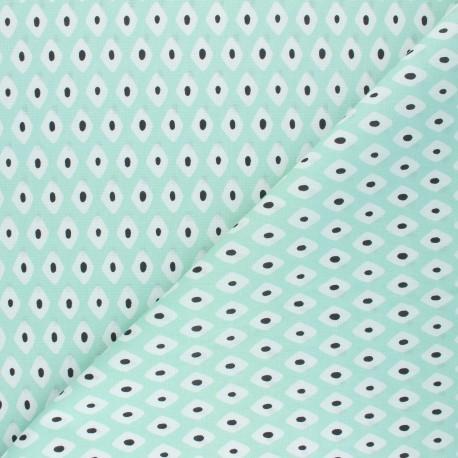 Cretonne Cotton fabric - almond green Losandia x 10cm