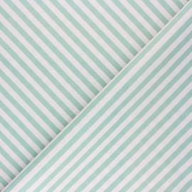 Tissu coton cretonne Diagonale - vert sauge x 10cm