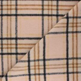 Polyester Wool fabric - pink Murdoch x 10cm