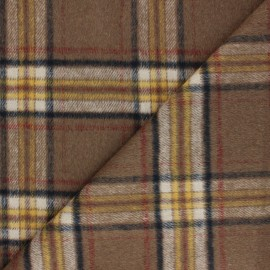 Polyester Wool fabric - brown Murdoch x 10cm