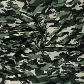 Tissu popeline de coton Ranger Camouflage - vert x 10cm