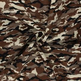 Poplin cotton Fabric - brown Ranger Camouflage x 10cm
