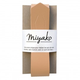 Miyako leather handle - Sand