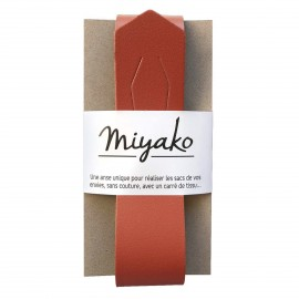 Miyako leather handle - Terracotta