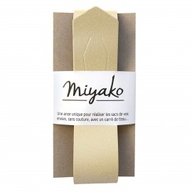 Anse en cuir Miyako - Doré