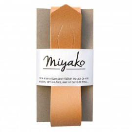 Miyako leather handle - Copper