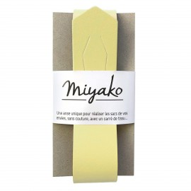 Miyako leather handle - yellow
