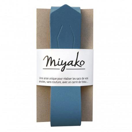 Anse en cuir Miyako - Bleu jean