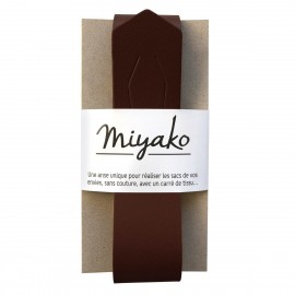 Miyako leather handle - chestnut
