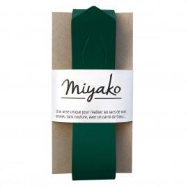 Anse en cuir Miyako - Vert forêt