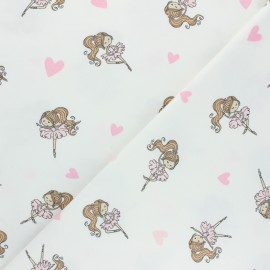 Printed Jersey fabric - off-white Dancing Esther x 10cm
