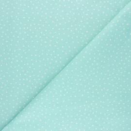 Tissu coton cretonne Dotsy - menthe x 10cm