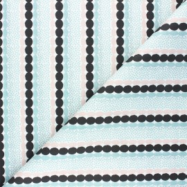 Tissu coton cretonne Graphic Stripe - céladon x 10cm