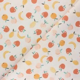 Tissu coton cretonne Saveurs sucrées - nude x 10cm