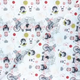 Tissu coton cretonne Siloé - blanc x 10cm
