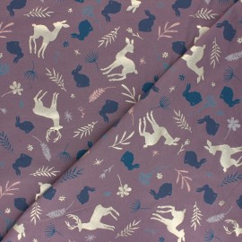 Printed Jersey fabric - parma Fairy Forest x 10cm