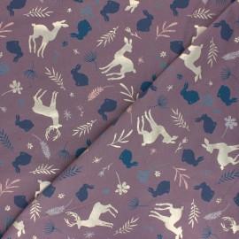 Tissu jersey Fairy Forest - parme x 10cm