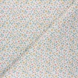 Tissu coton cretonne Tiny Delicate Flower - blanc x 10cm