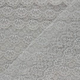 Ruban broderie sur tulle Marise - gris clair x 50cm