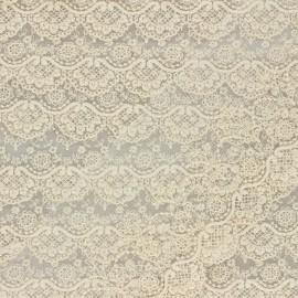 Ruban broderie sur tulle Marise - crème x 50cm