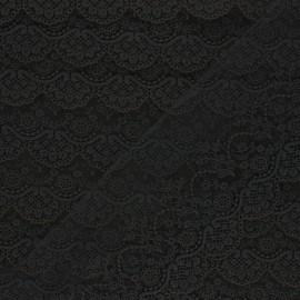 Ruban broderie sur tulle Marise - noir x 50cm