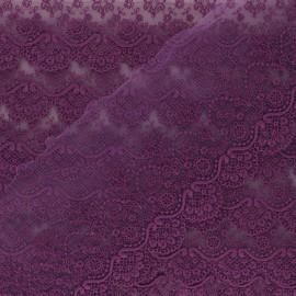 Ruban broderie sur tulle Marise - violet x 50cm