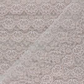 Ruban broderie sur tulle Marise - rose brume x 50cm
