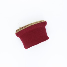 Poppy flounced Ribbing Cuffs (135x7,5cm) - burgundy