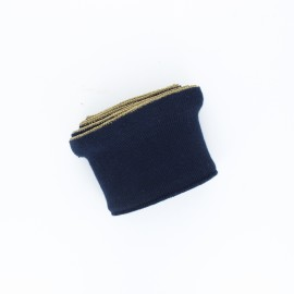 Poppy flounced Ribbing Cuffs (135x7,5cm) - midnight blue