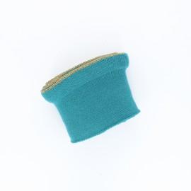 Poppy flounced Ribbing Cuffs (135x7,5cm) - lagoon