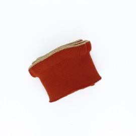 Poppy flounced Ribbing Cuffs (135x7,5cm) - rust