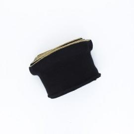 Poppy flounced Ribbing Cuffs (135x7,5cm) - black