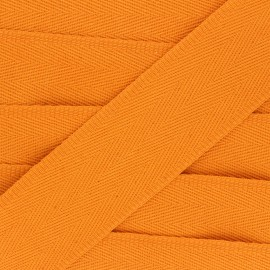 56 mm plain cotton Strap - orange x 1m