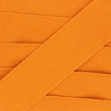 56 mm plain cotton Strap - orange x 1m