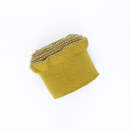 Poppy flounced Ribbing Cuffs (135x7,5cm) - mustard yellow