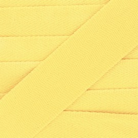 Sangle coton unie 56 mm - jaune x 1m