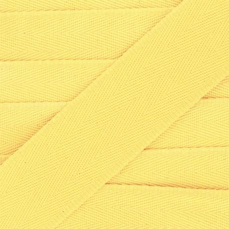 56 mm plain cotton Strap - yellow x 1m