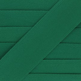 56 mm plain cotton Strap - green x 1m