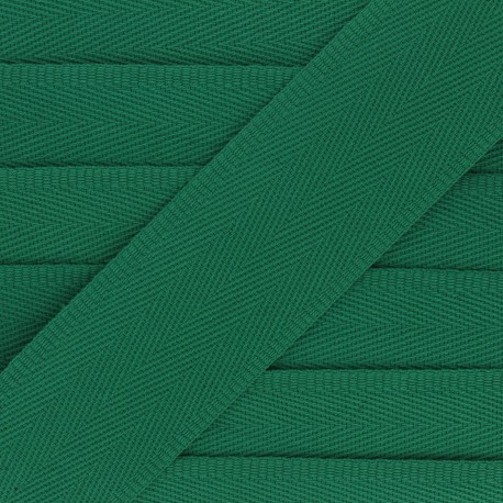 56 mm plain cotton Strap - green x 1m