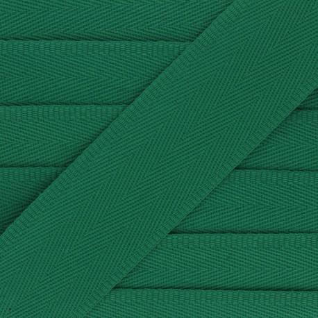 Sangle coton unie 56 mm - vert x 1m