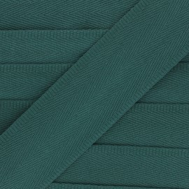 56 mm plain cotton Strap - dark green x 1m