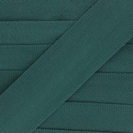 Sangle coton unie 56 mm - vert foncé x 1m