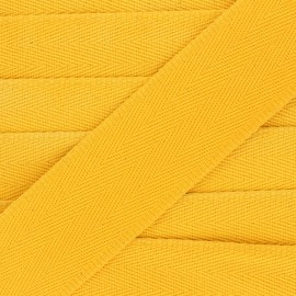 56 mm plain cotton Strap - yellow mimosa x 1m