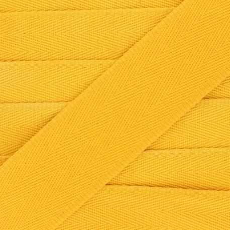 56 mm plain cotton Strap - yellow mimosa x 1m