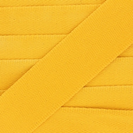 Sangle coton unie 56 mm - jaune mimosa x 1m