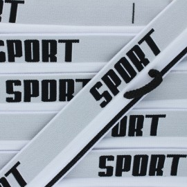 Elastique plat Sportif - blanc x 82cm
