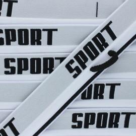Flat elastic - white Sportif x 82cm